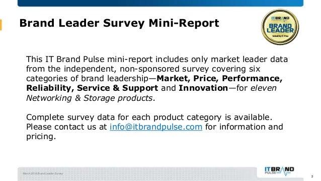 2018 Networking & Storage Brand Leader Mini-Report Slide 2