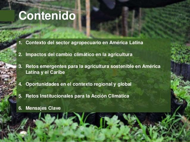Agricultura Sostenible y Cambio Climático Slide 2