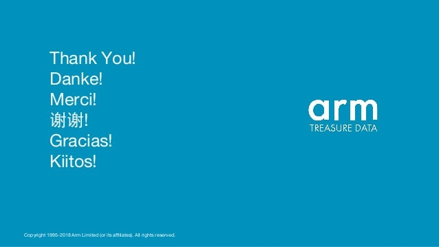 Thank You! Danke! Merci! 谢谢! Gracias! Kiitos! Copyright 1995-2018 Arm Limited (or its affiliates). All rights reserved.