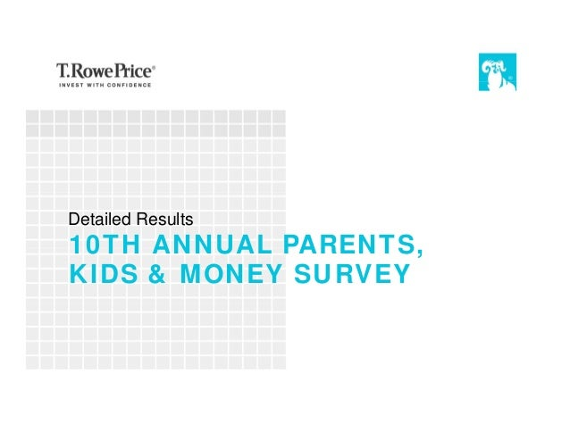 10TH ANNUAL PARENTS, KIDS & MONEY SURVEY Detailed Results