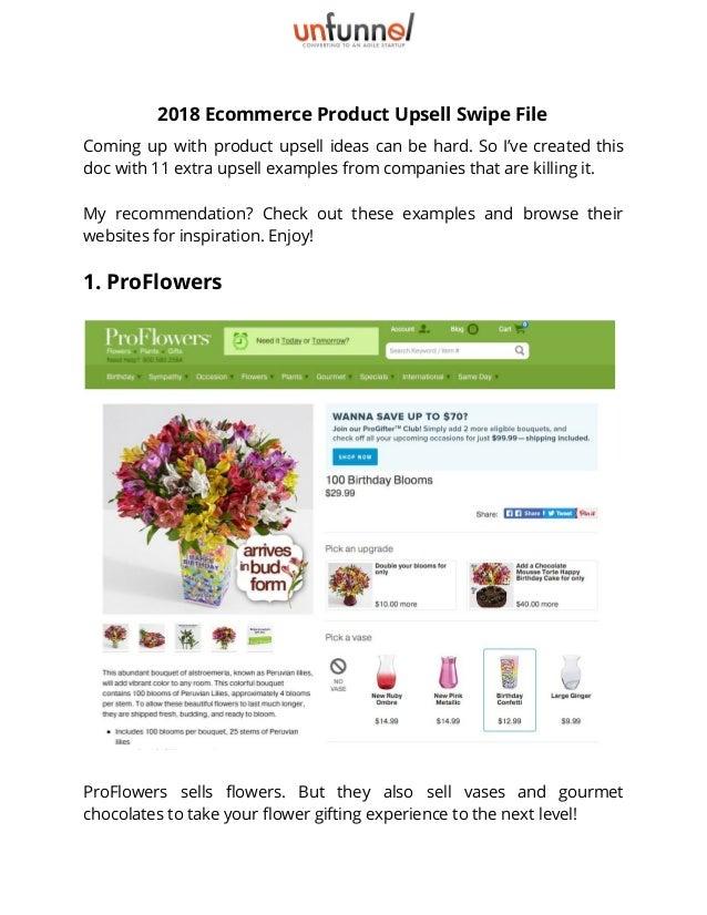 2018 Ecommerce Product Upsell Swipe File
