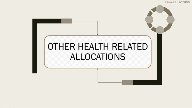 Interswitch - INTERNAL OTHER HEALTH RELATED ALLOCATIONS