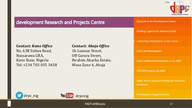 Interswitch - INTERNAL 37 drpcnig development Research and Projects Centre Contact: Kano Office No. 63B Sultan Road, Nassa...
