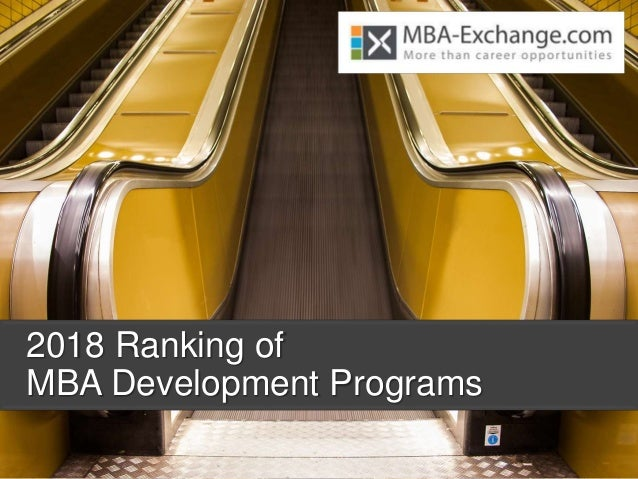 2018 Ranking of MBA Development Programs