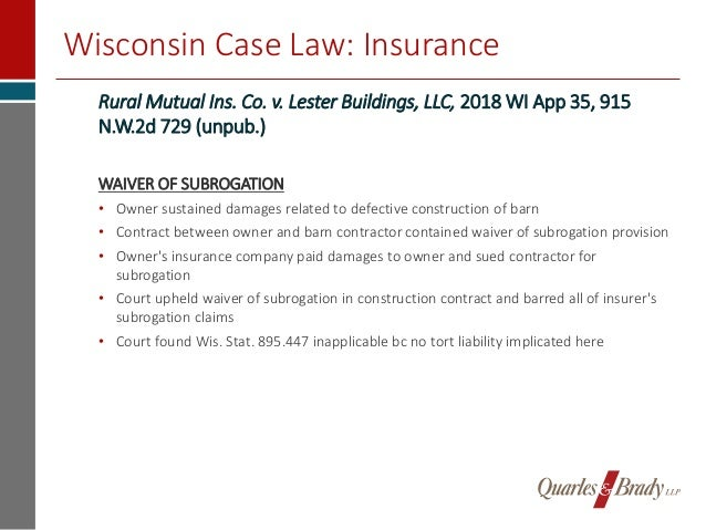 2018 Year In Review Recent Midwest Legal Decisions Impacting Real Es