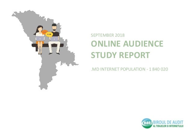 SEPTEMBER 2018 ONLINE AUDIENCE STUDY REPORT .MD INTERNET POPULATION - 1 840 020