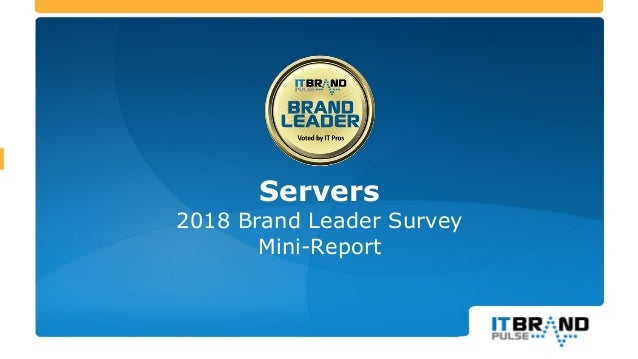 2018 Servers Brand Leader Mini- Report