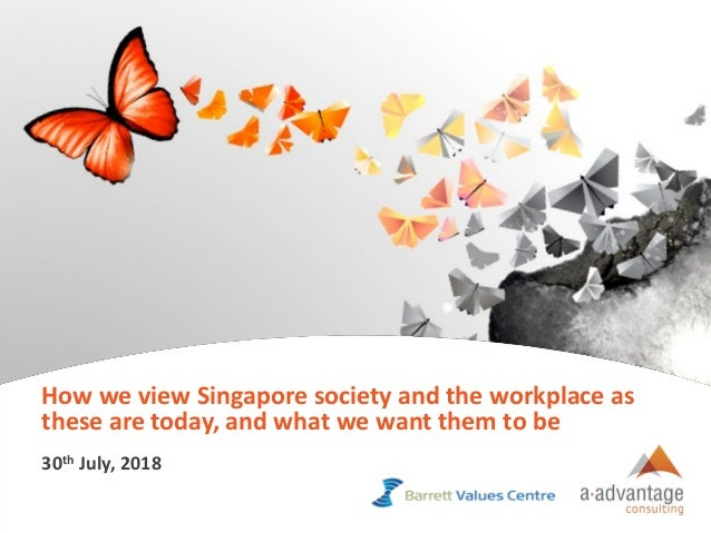 Copyright © aAdvantage Consulting 2018. All Intellectual Property Reserved. 1 How we view Singapore society and the workpl...