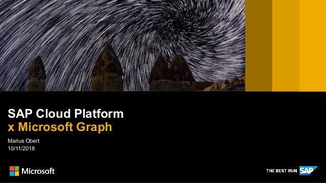 Marius Obert 10/11/2018 SAP Cloud Platform x Microsoft Graph