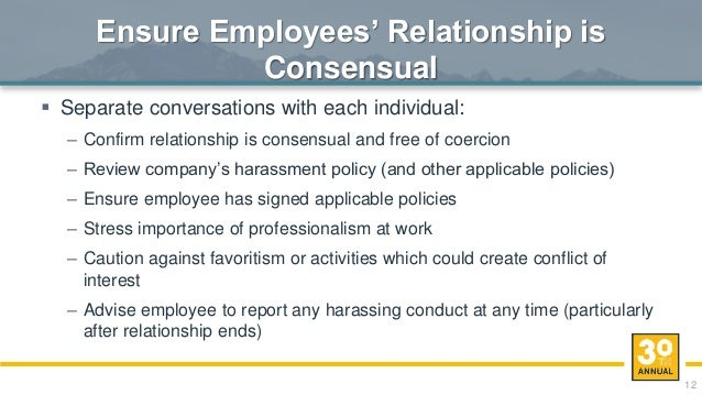 Dating in the workplace policy