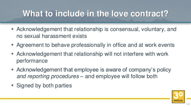 Office dating policies