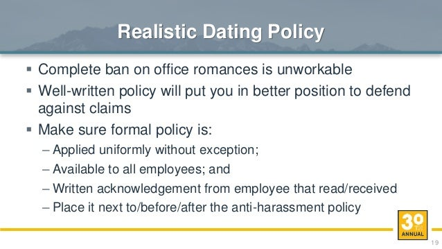dating in the office policy