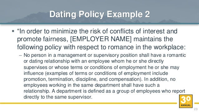 policy dating in the workplace