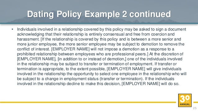 workplace dating policy template