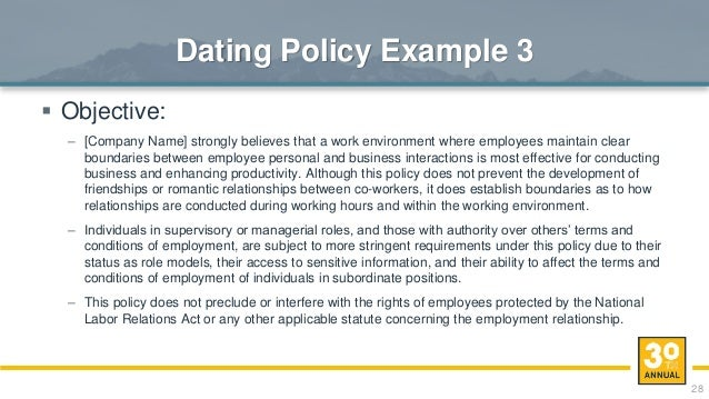 Employee dating policy