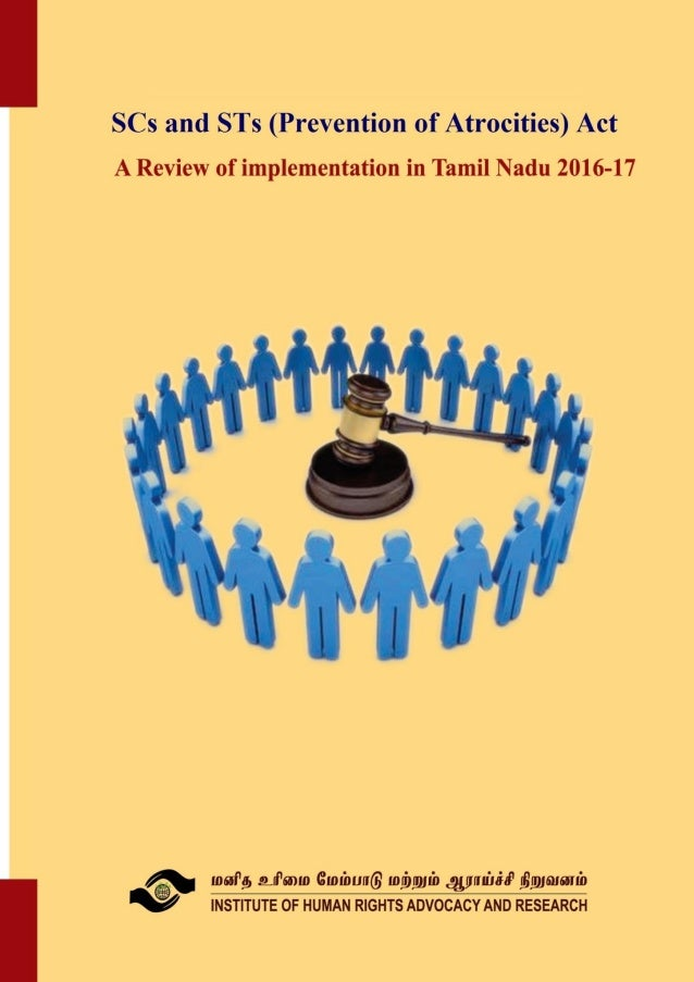 The law and justice: Review of implementation of POA in Tamil Nadu 2016-17 contact@hrf.net.in ; April 2018; Page 1