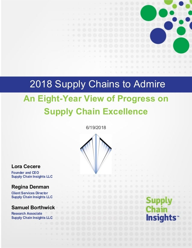 Supply Chains to Admire - 2018