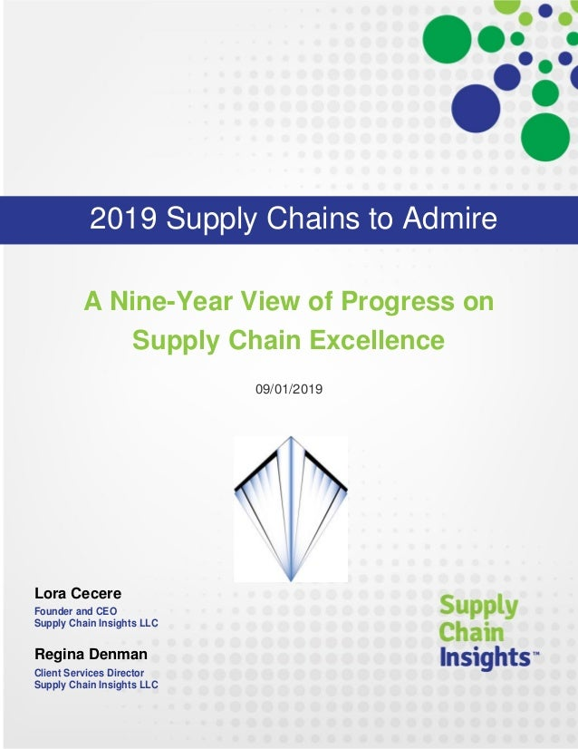 Supply Chains to Admire Analysis for 2019