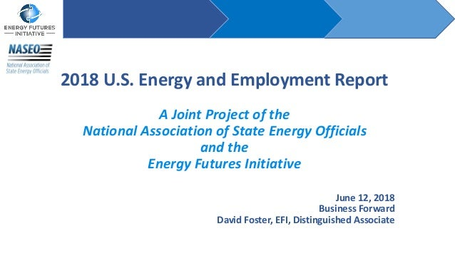 2018 U.S. Energy and Employment Report A Joint Project of the National Association of State Energy Officials and the Energ...