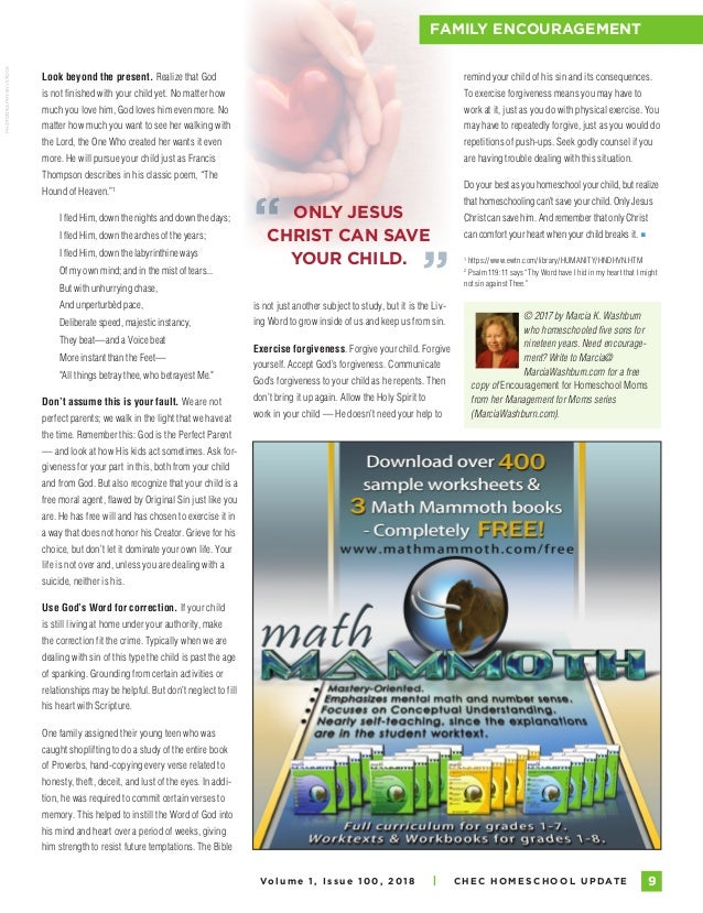 Homeschool Update Magazine - 2018, Volume 1, Issue 100