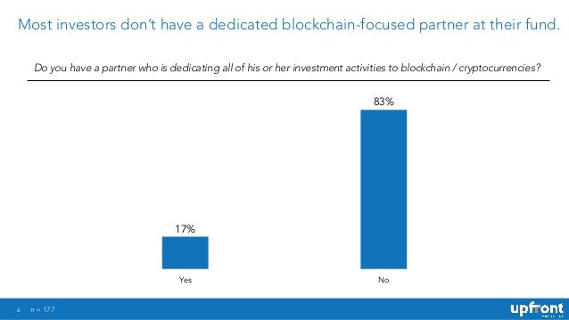 6 Most investors don't have a dedicated blockchain-focused partner at their fund. Do you have a partner who is dedicating ...
