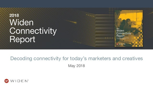 Decoding connectivity for today's marketers and creatives May 2018