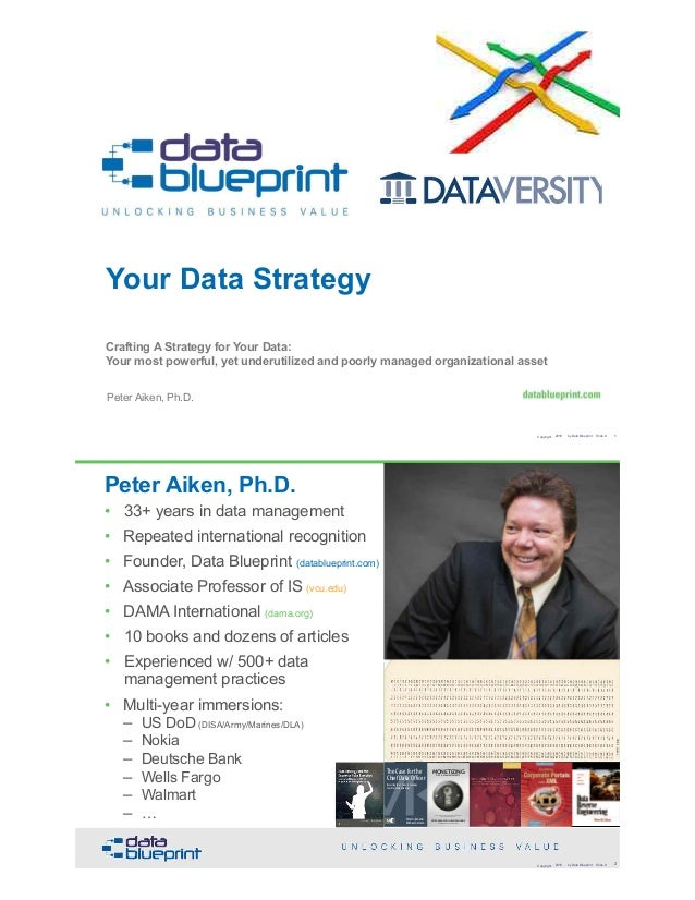 Your Data Strategy Crafting A Strategy for Your Data:  Your most powerful, yet underutilized and poorly managed organizat...