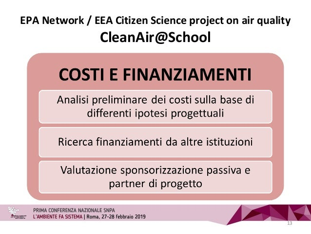 EPA Network / EEA Citizen Science project on air quality CleanAir@School 13