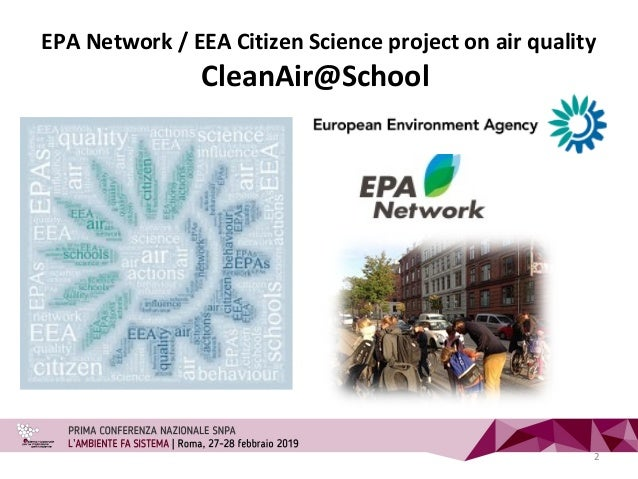 EPA Network / EEA Citizen Science project on air quality CleanAir@School 2
