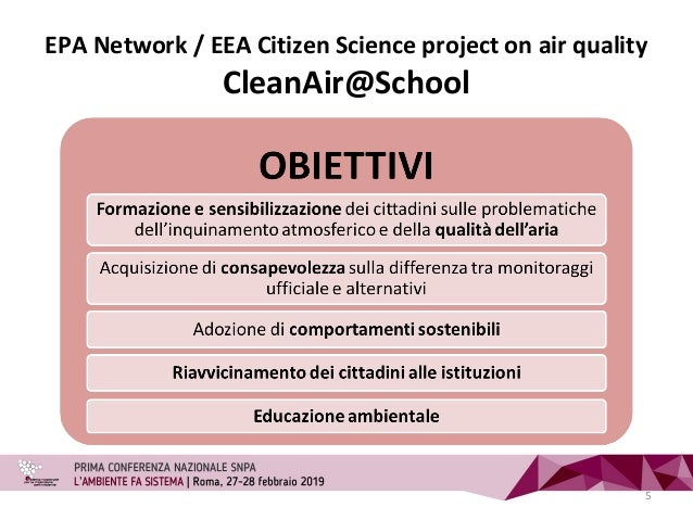 EPA Network / EEA Citizen Science project on air quality CleanAir@School 5