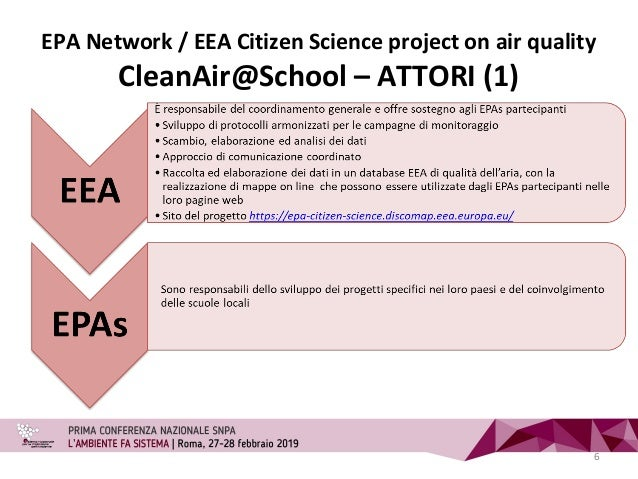 EPA Network / EEA Citizen Science project on air quality CleanAir@School – ATTORI (1) 6