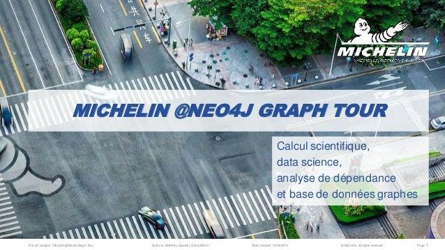 File ref./subject : Michelin @Neo4j Graph Tour Authors: Matthieu Quadrini,Denis Martin Date created: 19/03/2019 © Michelin...