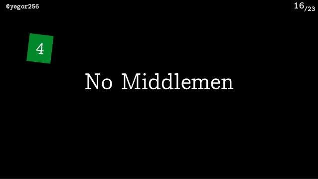 /23@yegor256 16 No Middlemen 4