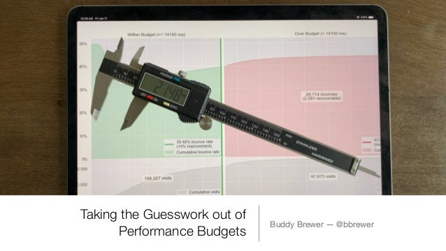 Taking the Guesswork out of Performance Budgets Buddy Brewer — @bbrewer