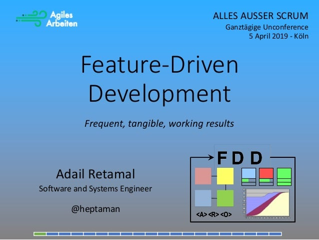 Feature-Driven Development Adail Retamal Software and Systems Engineer @heptaman Frequent, tangible, working results ALLES...