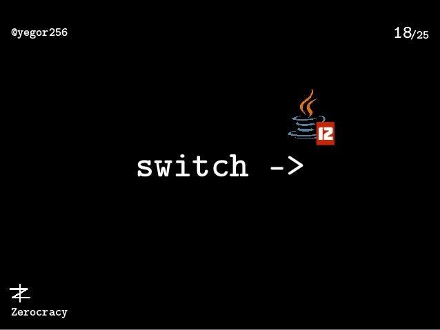/25@yegor256 Zerocracy 18 switch -> 12