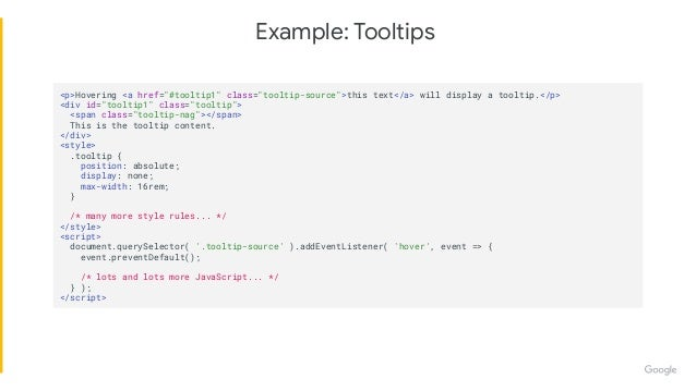 Introduction to Web Components Slide 3