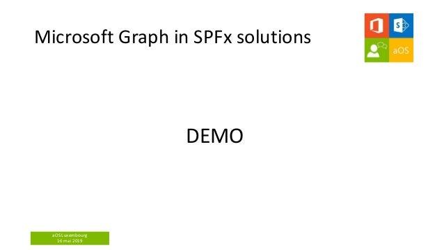 aOS Luxembourg 16 mai 2019 Microsoft Graph in SPFx solutions DEMO