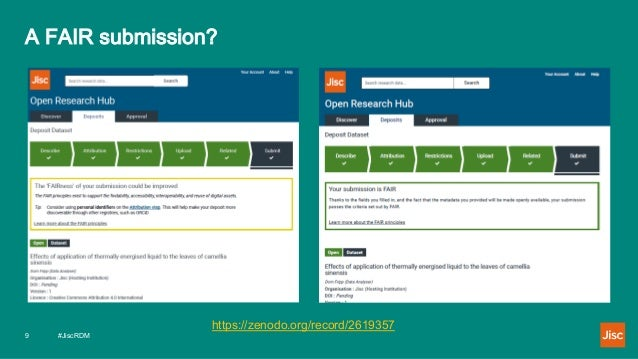 A FAIR submission? #JiscRDM9 https://zenodo.org/record/2619357