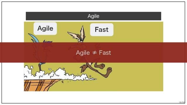 16/90 Agile Agile ≠ Fast