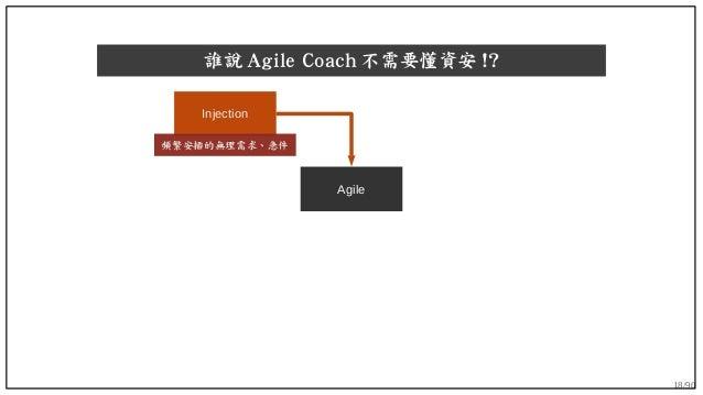 18/90 誰說 Agile Coach 不需要懂資安 !? Agile Injection 頻繁安插的無理需求、急件