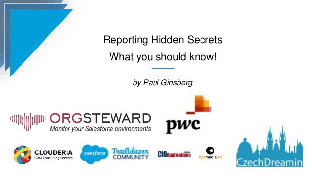 Reporting Hidden Secrets What you should know! by Paul Ginsberg