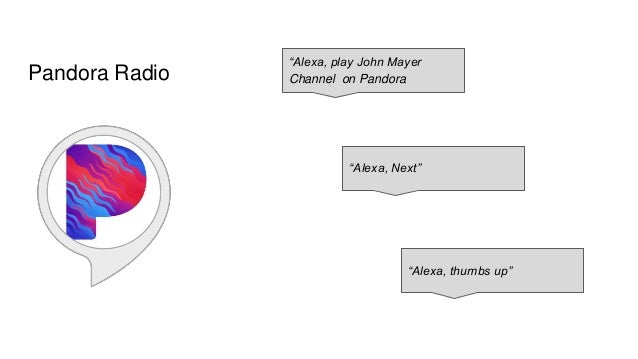 Pandora Radio Amazon devices such as the Echo can, via Alexa skills, be our Radio, music player, all in one.