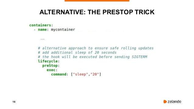 16 ALTERNATIVE: THE PRESTOP TRICK ...