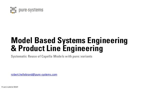© pure-systems GmbH Model Based Systems Engineering & Product Line Engineering Systematic Reuse of Capella Models with pur...