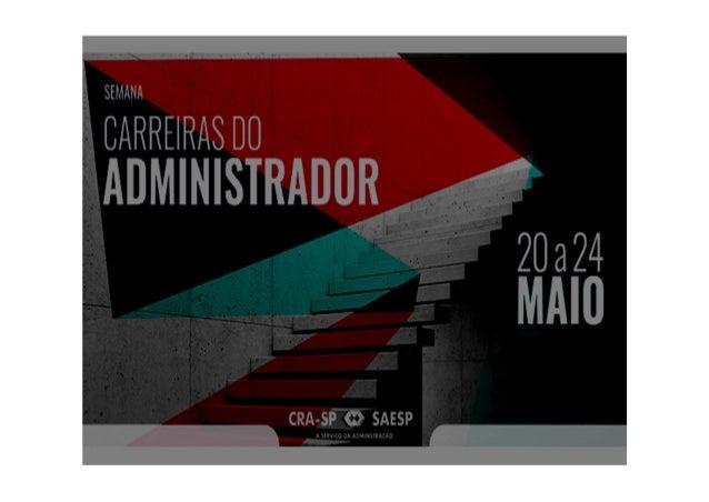 SEMANA CARREIRAS DO ADMINISTRADOR 2019
