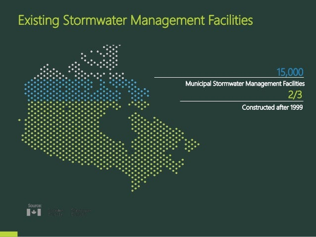 Existing Stormwater Management Facilities Source: 15,000 Municipal Stormwater Management Facilities 2/3 Constructed after ...