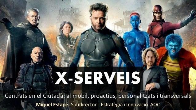 Centrats en el Ciutadà: al mòbil, proactius, personalitzats i transversals Miquel Estapé. Subdirector - Estratègia i Innov...