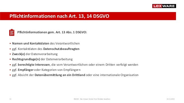 Dsgvo Private Website