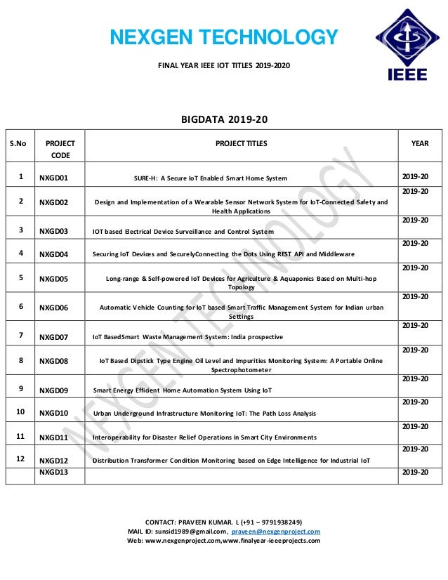 Bulk Ieee 2019 20 Projects In Iot Bulk Ieee Projects Ieee 2019 20